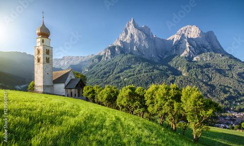 Fotografie, Tablou  Seis am Schlern, Dolomites, South Tyrol, Italy