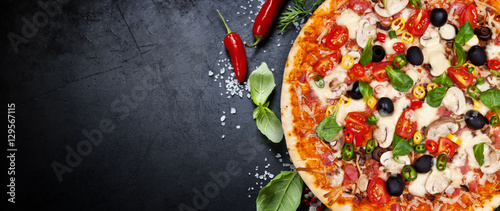 Photo sur Toile Magasin alimentation pizza for you