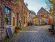 canvas print picture - Stone Houses in Durbuy