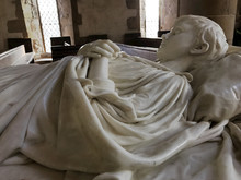 BAKEWELL, ENGLAND - DECEMBER 4: Interior Of Chapel At Haddon Hall. Tomb Of Young Lord Haddon In Marble. In Bakewell, Derbyshire, England. On 4th December 2016.