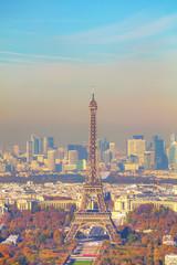 Fototapeta Paryż Aerial view of Paris