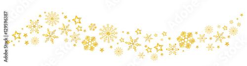 Obraz Świąteczny baner z płatkami śniegu, element dekoracyjny - fototapety do salonu