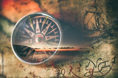 Compass. Canvas Print
