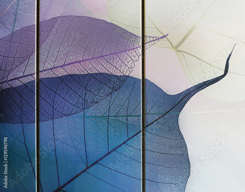 Aluminium Prints Textures tile, transparent leaves