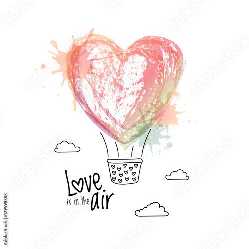 streszczenie-balon-w-formie-serca-akwarela-z-koszem-milosc-jest-w-powietrzu