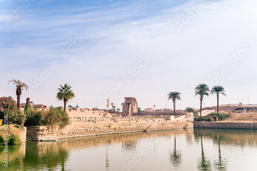 Tuinposter Egypte LUXOR, EGYPT Ancient ruins of Karnak temple in Egypt at noon. The complex is a vast open-air museum, and the second largest ancient religious site in the world