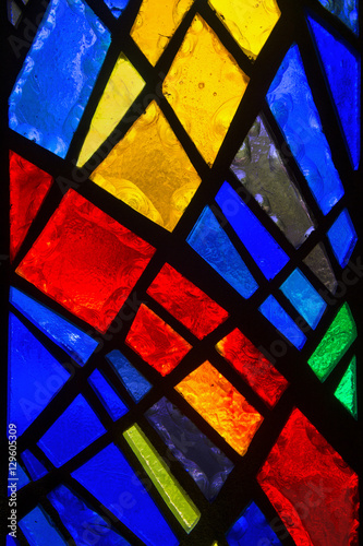 Cuadros en Lienzo Stained glass detail.