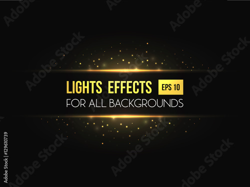 Fotografie, Obraz  Horizon halo light through lens effect.