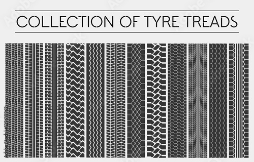 Wheel or tire, tyre treads, car tracks