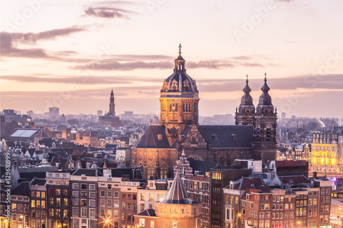 Amsterdam center skyline Poster