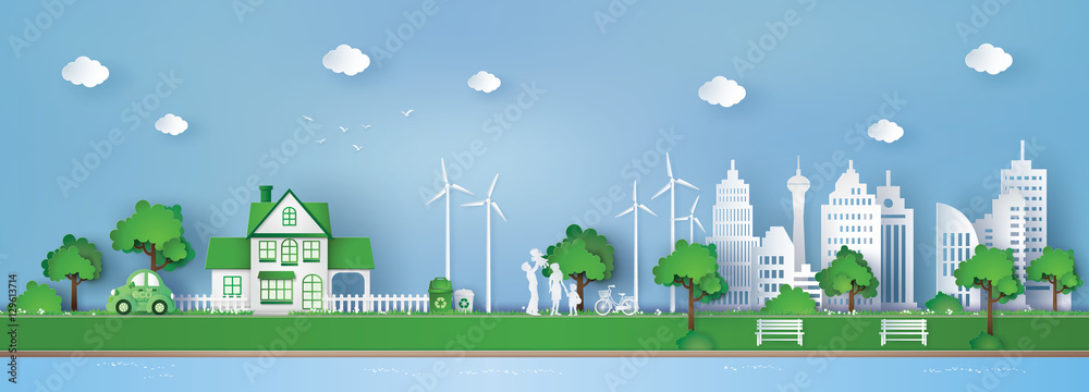 Fototapeta concept of eco friendly and save the earth