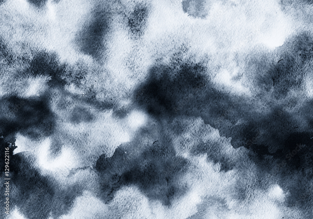 Fototapety, obrazy: Hand painted ink abstract seamless background.