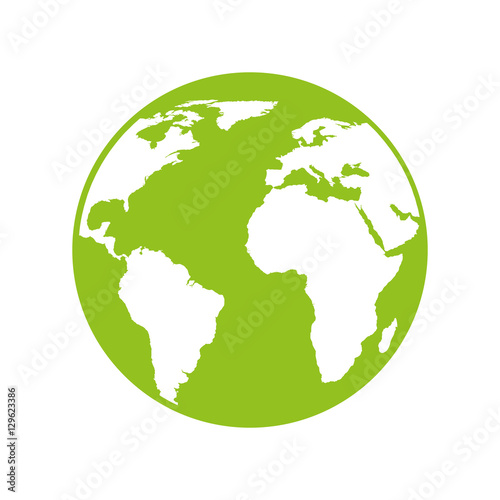 Fototapeta world planet earth icon vector illustration design obraz