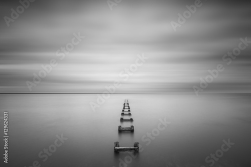 Long Exposure Seascape of some old pilings