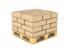Rendering Of Large Paper Bags Rest On Pallet