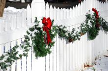 Christmas Wreath On The White ...