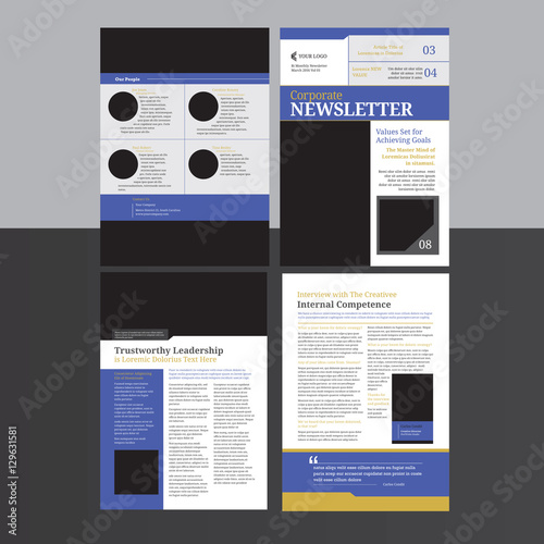 4 pages newsletter buy this stock vector and explore similar