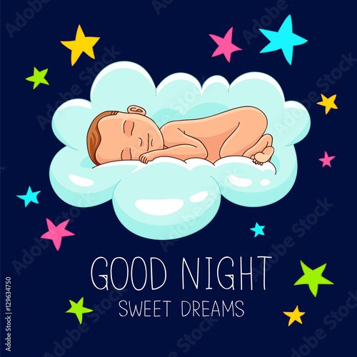 Quote Good Night Sweet Dreams Buy This Stock Vector And Explore