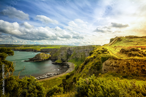 Canvas Prints Blue sky Coast of Northern Ireland