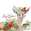 Background with Christmas decoration