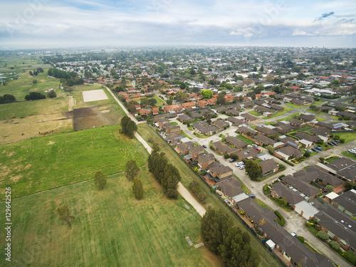 Fotografia  Aerial view of Chelsea suburb in Melbourne, Australia