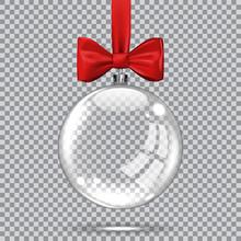 Template Of Glass Transparent Christmas Ball