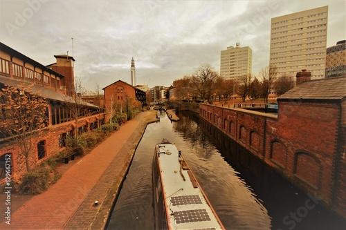 In de dag Kanaal Birmingham waterways