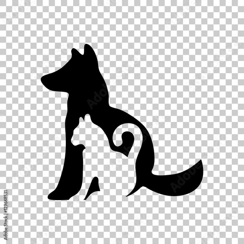 Cat And Dog Icon Black Icon On Transparent Background Buy This