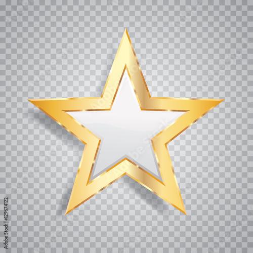 Obraz one gold white star - fototapety do salonu