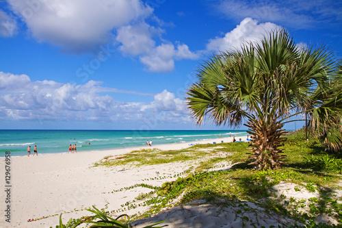 Recess Fitting Caribbean beach in varadero, cuba