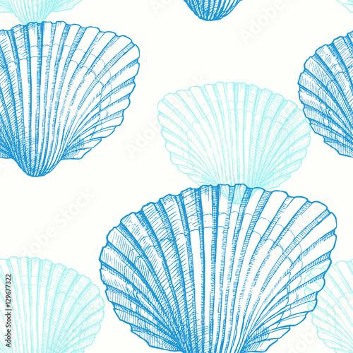 muszla-recznie-rysowane-morskich-ilustracji-graficznych-wektor-wzor