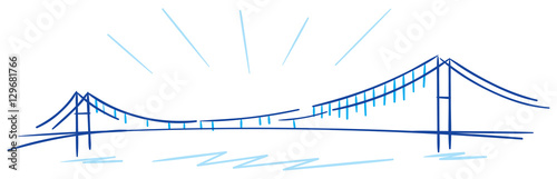 Fotografia bosphorus bridge istanbul vector