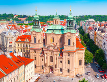 St. Nicholas Church, Old Town Square In Prague, Czech Republic