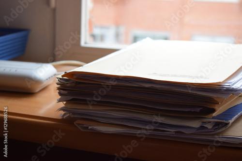 Carpetas llenas de documentos. Canvas Print