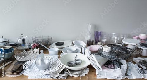 Valokuva  Flea market table