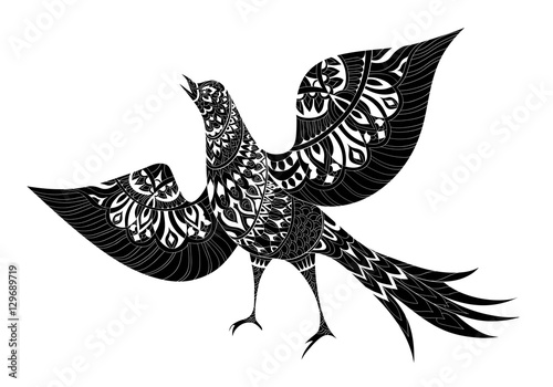 Fotografija  Ornamental fantasy bird hand drawn