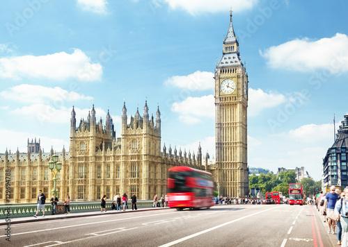 Westminster Bridge, London, UK Canvas Print