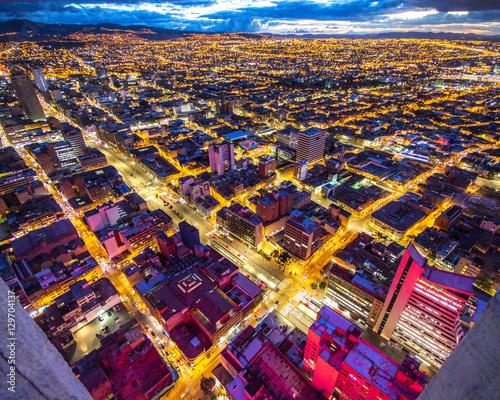 Bogota skyline at night Wallpaper Mural