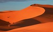 Beautiful sand dune in africa