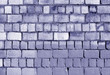 Old blue toned brick wall texture