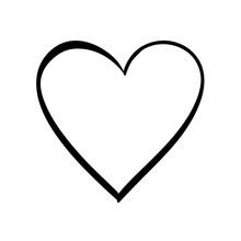 Cute Decorative Heart Icon Vec...