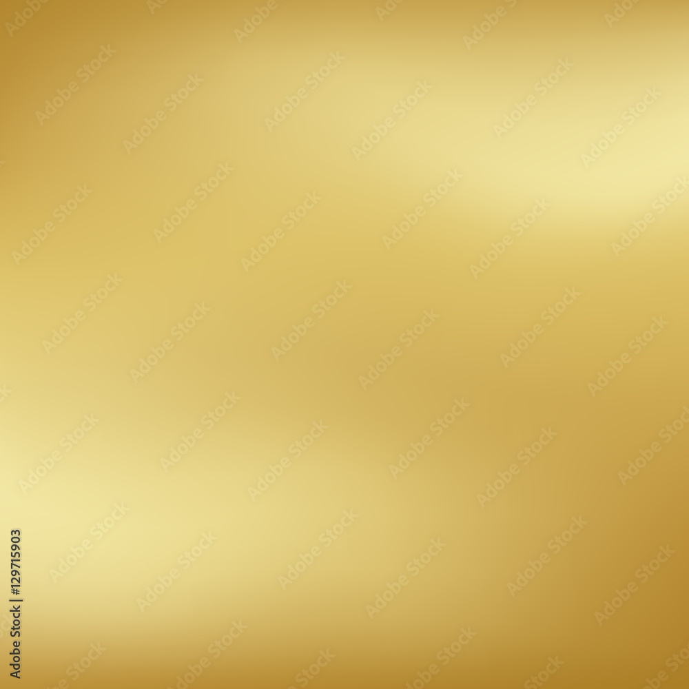 Fototapety, obrazy: Vector gold blurred gradient style background. Abstract smooth colorful illustration, social media wallpaper.