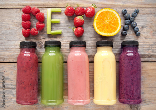 Photo sur Aluminium Jus, Sirop Detox smoothies