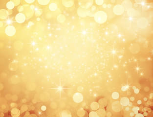 Fond doré et festif - Noël,...