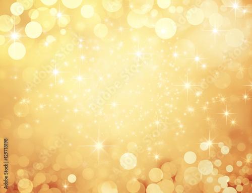 Obraz Fond doré et festif - Noël, nouvel an, anniversaire - fototapety do salonu