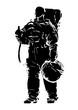 Shilouette Astronaut