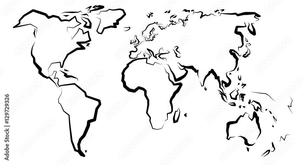 Fototapety, obrazy: Mapa świata