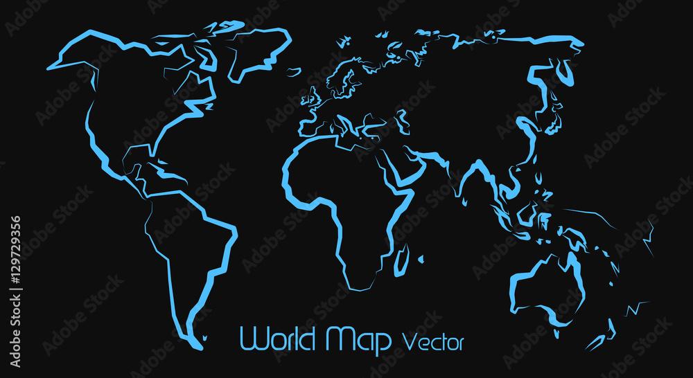 Fototapeta World Map Vector