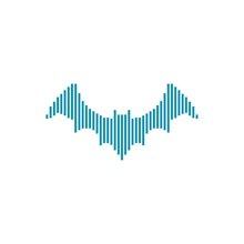Music Bat Logo Design Element