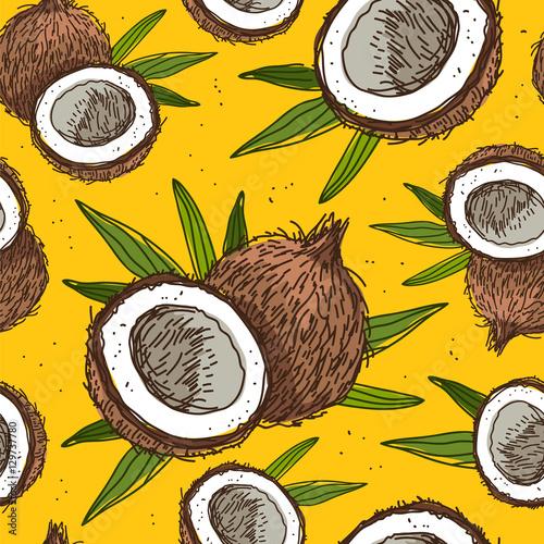 bezszwowe-wektor-wzor-kokosow